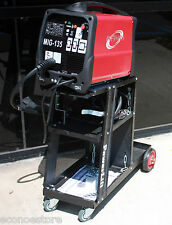 MIG-135 220v 120AMP Flux Core Welder Gas/No Gas Weld + STEEL WELDING CART