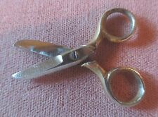 Antique 1920's miniature sewing scissors doll antique  sharp gold  1 1/2""