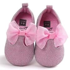 Newborn Infant Baby Girl Bowknot Shoes Sneaker Anti-slip Soft Sole Prewalker UK