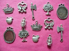 Tibetan Silver Snow White themed mixed charms 14 per pack