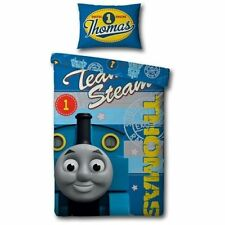THOMAS THE TANK ENGINE EXPRESS SINGLE BED BEDDING QUILT /DUVET COVER SET BLUE