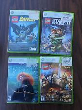 Xbox 360 LEGO Star Wars III The Clone Wars, batman, lord of the rings, and brave
