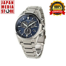 Citizen ATTESA AT3050-51L Eco-Drive Chronograph Titanium 100% Genuine JAPAN