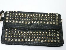 Bebe bag wristlet purse handbag pocketbook clutch Linen Stud  193995