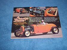 "1932 Ford Roadster Highboy Street Rod Article ""Orange Deuce"""