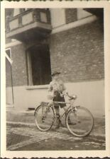 PHOTO JEUNE SCOUT ET SA BICYCLETTE VELO 1941