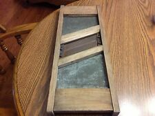 Tucker & Dorsey Advertising Wood and Metal Sour Kraut Cutter Vintage Nice Piece