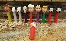 Lot of 10 PEZ Candy dispensers - Assorted mikey mouse  snoopy Garfield santa