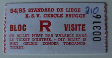 Ticket for collectors Belgium League Standard Liege - Cercle Brugge 0:0 1995