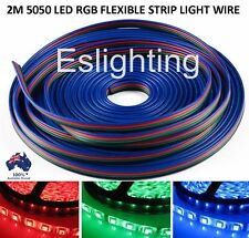 2M 4-PIN RGB LED STRIP LIGHT EXTENSION CONNECTOR WIRE CABLE CORD 5050 3528 LEAD