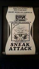 Lynx Sneak Attack Rare Original Promo Poster Ad Framed!