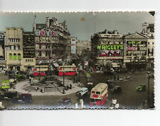POSTCARD LONDON PICCADILLY CIRCUS EROS STATUE VINTAGE STREET SCENE  PHOTO OLD