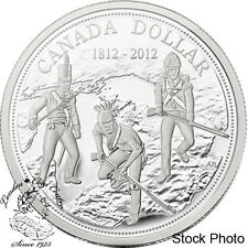 Canada 2012 $1 200th Anniversary of the War of 1812 Proof Silver Dollar