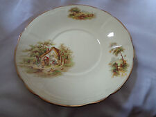 Vintage Alfred Meakin England Country Farm Cottage Scene The Rest Soup Bowl