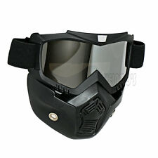 silver lens Adults glasses Motorbike Motorcycle Scott ski Goggles with Face Mask