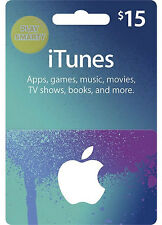 $15 iTUNES GIFT CERTIFICATE CARD 15 USD US APPLE STORE key iPhone iPod