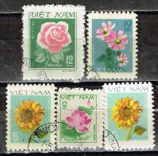 Vietnam Flora Flowers set 1983