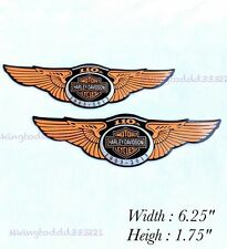 2x Metal Gas Tank Emblems For Harley Davidson Motorcycles 110th Anniversary
