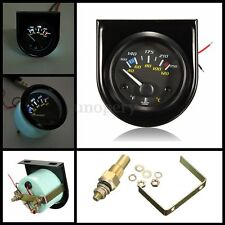 2 INCH 52MM WATER GAUGE TERMOMETRO TEMPERATURA ACQUA TEMP MANOMETRO 12V AUTO