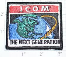 Icom Amateur Satellite Radio Iron-on Embroidered Vintage Patch Collectible RARE