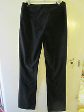 Smart Black Karen Millen Straight Leg Trousers in Size 10 - L32