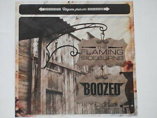 "THE FLAMING SIDEBURNS / BOOZED Split 7"" EP 45 nm"