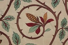 Arts & and Crafts fabric French natural design c 1880 material BEAUTIFUL