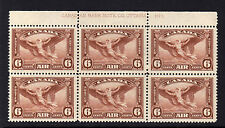 CANADA 1935 6c RED-BROWN IMPRINT BLOCK PLATE 1 SG 355 MNH.
