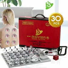 [HANSOL] CUPPING SET 30CUPS Slimming CUPPING Massage Acupuncture, Vacuum Therapy