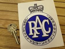 RAC Old Garland style Stickers RAC Rally 1960's 70's