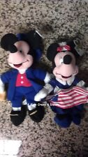 DISNEY Mickey & Minnie Dressed as Paul Revere  Betsy Ross Retired  Mint w/Tag