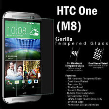 100% Genuine Gorilla Tempered Glass Film Screen Protector Guard For HTC One (M8)