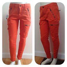 Polo Ralph Lauren Women's Pants Orange Skinny Stretch Cargo Pants Sz 8 NWT165.00