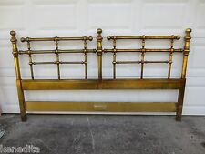 KING Size Headboard Drexel Barbados Mid-century Modern WOOD MCM Gold Regency