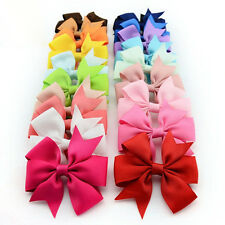 10PCS LOVELY BABY GIRLS GROSGRAIN RIBBON BOW HAIR CLIP HAIRPIN ALIGATOR CLIPS
