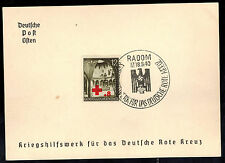 1940 Radom Poland Germany GG Souvenir Postcard cover War Relief for Red Cross