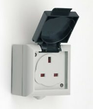EXTERNAL OUTSIDE WEATHERPROOF SINGLE MAINS ELECTRICAL SOCKET 13 AMP IP54