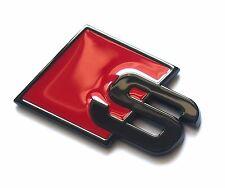 Sline S Line Badges Emblems Logo Black 1 x Rear for Audi