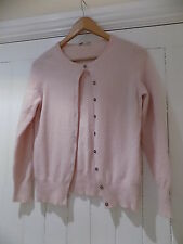 Marks & spencer / M&S 100% cashmere soft pink cardigan size 12 WORN ONCE
