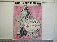 Vintage This is the Moment sheet music from the movie That Lady in Ermine