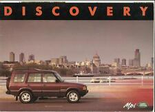 LAND ROVER DISCOVERY Mpi 3 AND 5 DOOR SALES BROCHURE 1991 1992