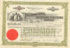 International Educational Publishing Co 1931 Penn Scranton stock certificate