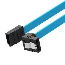 2 Pcs SATA 3.0 III SATA3 SATAiii High Speed 6GB/s Data Cable Angle Blue Cord