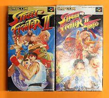 STREET FIGHTER 2 TURBO BOX Nintendo Super Famicom Japan SNES FREE Shipping USED