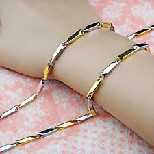 Hot Sale Stainless Steel Gold Silver Mirror Polished Plain Mens Chain Necklace
