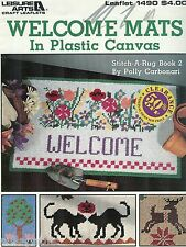Welcome Mats Fabric Strips & Plastic Canvas Pattern