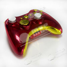 Replace Housing For Xbox 360 Controller CUSTOM Chrome RED GOLD Matching Buttons