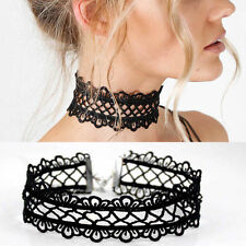 Lady Gothic Black Lace Retro Choker Collar Necklace Jewelry Lace Flower Pendant
