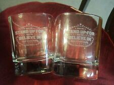 Set of  2  Jack Daniel's Glasses  When you stand up for What you Believe in