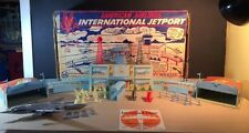 Marx International Jetport American Airlines Box Incomplete 60's Tin Toy